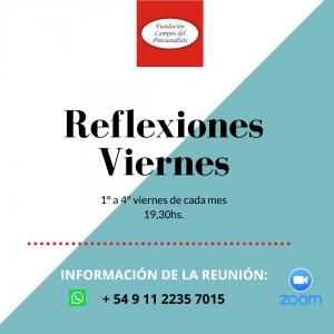 19.30hs Reflexiones día viernes